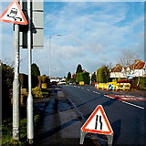 ST2888 : Signs near High Cross roadworks, Newport by Jaggery