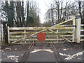 SJ2523 : Level Crossing on Offa's Dyke National Trail by Row17