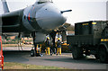 SZ1197 : Bournemouth Airport - Vulcan on static display - 1990 Bournemouth Airshow (2) by Mike Searle