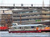 "TQ3280 : The ""City Delta"" passing under the Millennium Bridge by Oliver Dixon"