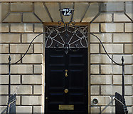 ST7565 : Detail of 72 Great Pulteney Street, Bath by Stephen Richards