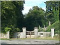 N8560 : Ornamental gates and derelict lodge at Bective by Eric Jones