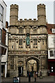 TR1457 : Entrance to Canterbury Cathedral by Peter Trimming