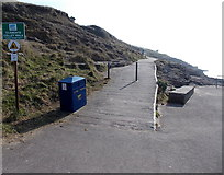 ST1166 : NW end of Clements Colley Walk, Barry Island by Jaggery