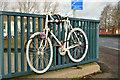 J3472 : White bicycle, Ormeau Bridge, Belfast by Albert Bridge