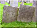 SK6325 : Gravestones in Willoughby Churchyard (3) by Alan Murray-Rust