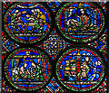 TR1557 : Detail, Stained Glass window (sII), Canterbury Cathedral  by Julian P Guffogg