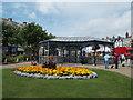 SH7882 : Llandudno: floral display in Mostyn Street by Chris Downer