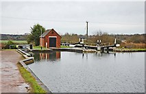 SP1976 : Bottom Lock (No. 47), Knowle Locks, Grand Union Canal, Knowle near Solihull by P L Chadwick