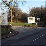 ST8993 : Entrance to Tetbury Motor Centre by Jaggery