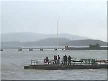 SD4578 : High tide at Arnside Pier by Karl and Ali