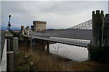 SH7877 : The Conwy Suspension Bridge, Conwy by Ian S