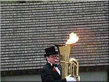 TQ3180 : This tuba player is on fire! by Robert Lamb