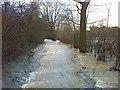 TQ1457 : River Lane flooded by Hugh Craddock
