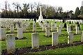 SP4805 : Commonwealth War Graves by Steve Daniels