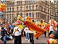 SJ8398 : Dragon Parade on Princess Street by David Dixon