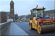 NT2540 : Resurfacing Tweed Bridge, Peebles (1) by Jim Barton