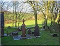SN1343 : Monington Churchyard by Dylan Moore