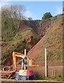 SX9574 : Cliff work near Teignmouth by Derek Harper