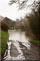SU5124 : Flooding in Stags Lane, Owslebury by Peter Facey