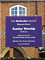 TM1644 : The Methodist Church sign by Adrian Cable