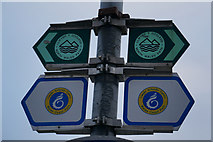 SH7783 : Footpath signs, Marine Drive, Great Orme by Ian S