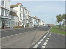 TR3751 : Looking north along The Strand, Lower Walmer by John Baker