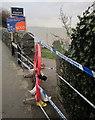 SX9676 : Closed footpath, Dawlish by Derek Harper