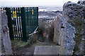 SH7682 : Path down to the beach from Marine Drive by Ian S