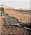 SX9676 : Collapsed fence, Dawlish by Derek Harper