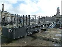 SX4653 : Royal William Yard - swing bridge by Chris Allen