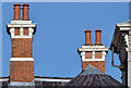 J3377 : Chimneys and chimney pots, Fortwilliam, Belfast by Albert Bridge
