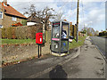 TM0838 : Telephone Box & Sycamore Cottage Windmill Hill Postbox by Adrian Cable