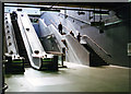 TQ3579 : Canada Water Underground station: lower escalators from Jubilee Line platforms to East London Line station and exit above by Ben Brooksbank