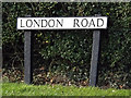 TM0938 : London Road sign by Adrian Cable