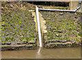 J3172 : Depth gauge, the Blackstaff River, Belfast by Albert Bridge