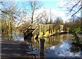 SU7671 : Flooded Bridge over the Loddon by Des Blenkinsopp