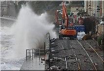 SX9777 : Dawlish : Engineers on the Railway & Coastline by Lewis Clarke
