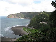 SS7249 : Looking eastwards to Lynton-North Devon by Martin Richard Phelan