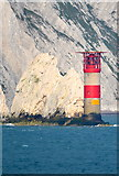 SZ2984 : The Needles Lighthouse, off the Isle of Wight, viewed from P&O's Adonia by Terry Robinson