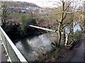 ST0697 : Pipeline over the river, Penrhiwceiber by Jaggery