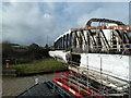 SJ5378 : Swing bridge - Sutton Weaver by Chris Allen