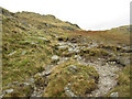 NY3107 : Footpath on Little Castle Howe by Graham Robson