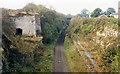SK9818 : Castle Bytham: site/remains of station, 1986 by Ben Brooksbank