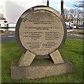 SD5415 : Commemorative Stone, Charnock Richard Services by David Dixon