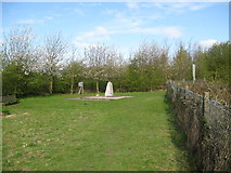 SK1827 : Fauld crater memorial to a disaster-Hanbury, Staffs by Martin Richard Phelan