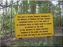 SK1827 : Fauld crater a stern warning to the visitor-Hanbury, Staffs by Martin Richard Phelan