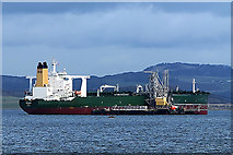 NT1580 : Crude oil tanker Orthis at Hound Point by William Starkey