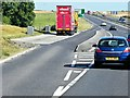 TM0261 : Eastbound A14, Layby near Gallows Fields by David Dixon