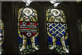 TQ6852 : Medieval Stained glass window, St Mary's Nettlestead by J.Hannan-Briggs